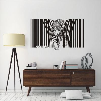 deko-shop-24.de-Wandtattoo-Barcode Tiger Afrika