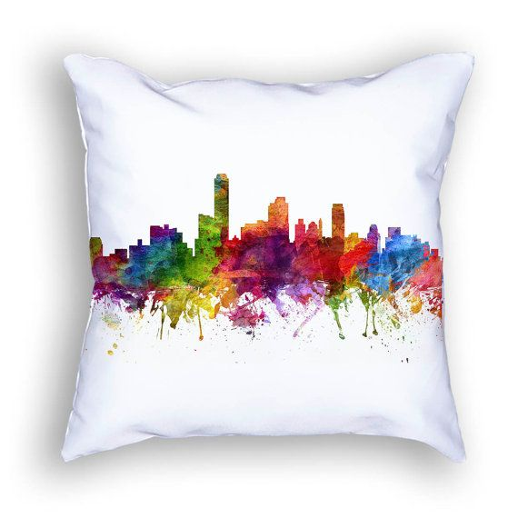 Adelaide Pillow Adelaide Skyline Adelaide Cityscape by Agedpixel