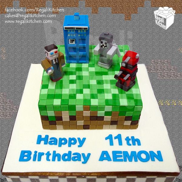 Minecraft-Doctor Who Cake for Aemon | The Regali Kitchen