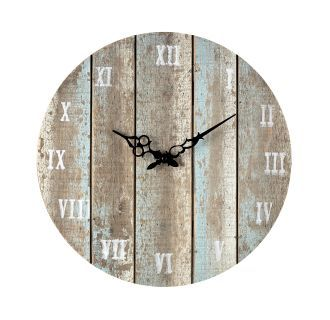 "View the Sterling Industries 128-1009 16"" Height Wooden Roman Numeral Outdoor Wall Clock at Build.com."