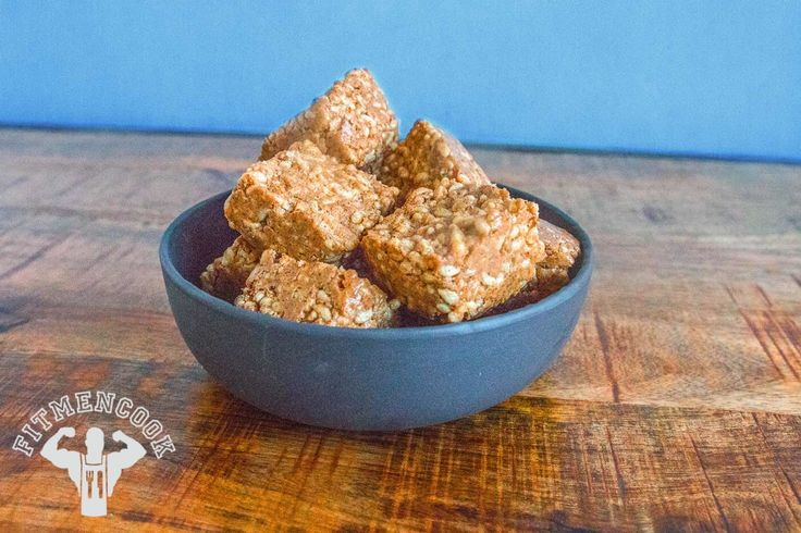 For Ashley: Try this 10-minute Protein Brown Rice Crispies Treats from the FitMenCook app