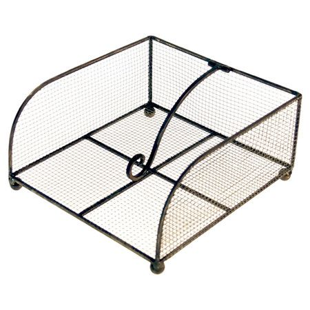 Corral cocktail napkins atop the bar with this must-have mesh holder, an industrial addition to the sideboard or buffet.  Product: