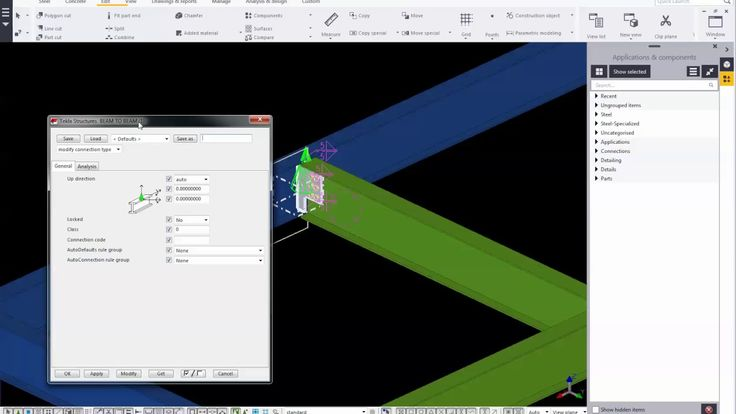 Trimble Tekla Structure 2016_Create Custom Component (Connection)