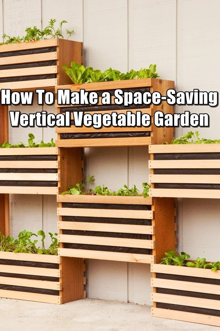 How To Make a Space-Saving Vertical Vegetable Garden - Growing your vegetables vertically has so many benefits over traditional gardening. When you grow vertically, you can a whole bunch of veggies, herbs and flowers, all in a fraction of the space they would normally take up. This is perfect for city dwellers who just don't have the space. #verticalvegetablegardeningideas