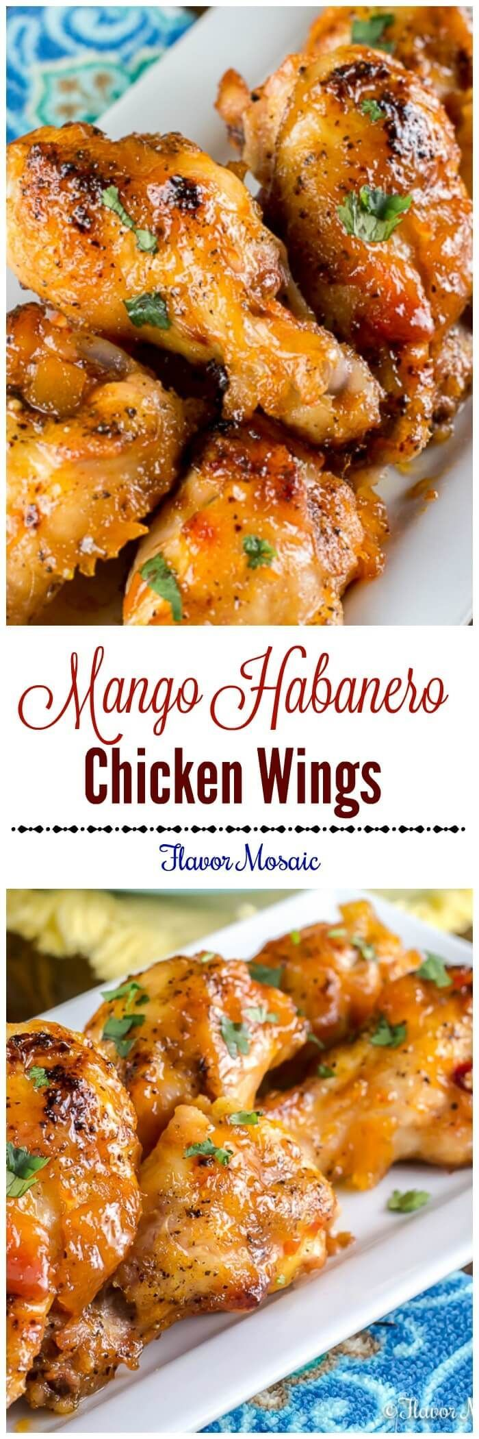 nice Mango Habanero Wings are sweet and spicy chicken wings with a Mango Habanero gla...by http://dezdemooncooking.gdn
