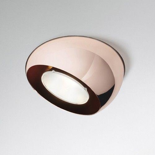 Copper recessed light