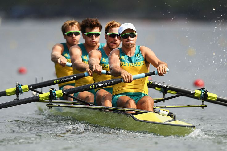 ROWING: The Australian Men's Four have won silver behind Great Britain and Kim Brennan has qualified comfortably for the single sculls final.