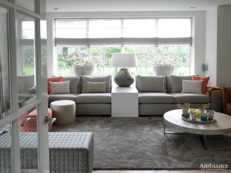 Woonkamer koraal/ Living room coral http://www.ambiancenaaldwijk.nl/home/