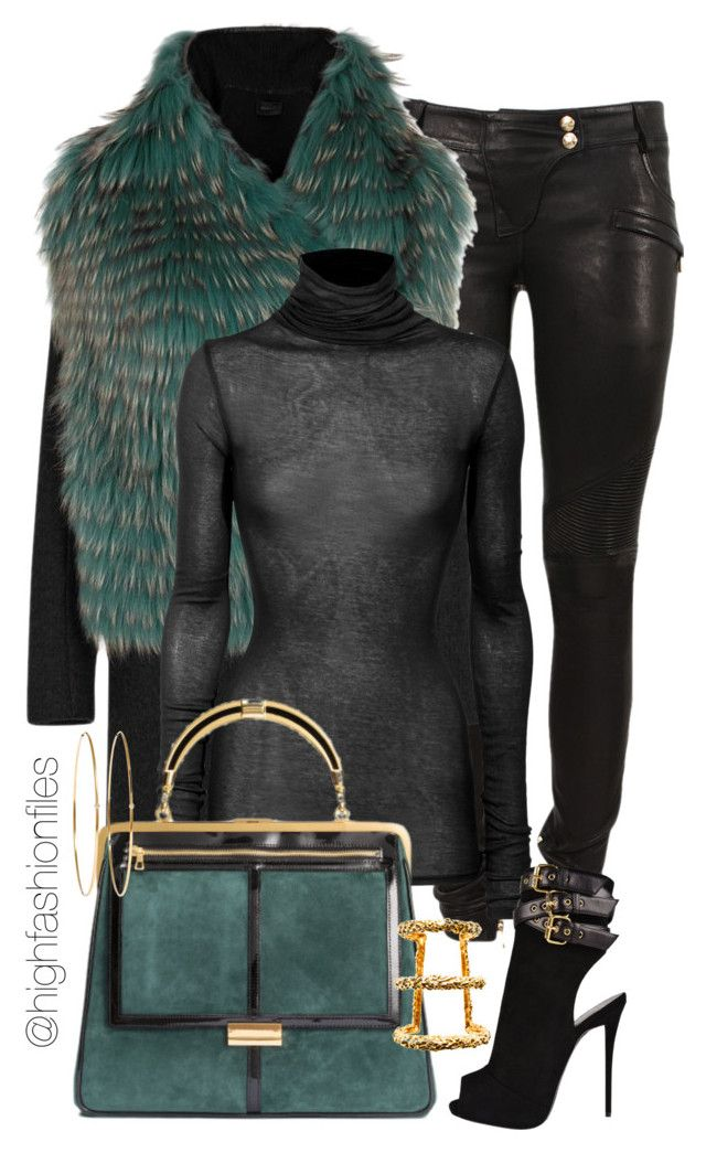 """Winter Chic"" by highfashionfiles ❤ liked on Polyvore featuring Balmain, Anne Vest, American Vintage, Giuseppe Zanotti, Paula Mendoza and Jennifer Meyer Jewelry"
