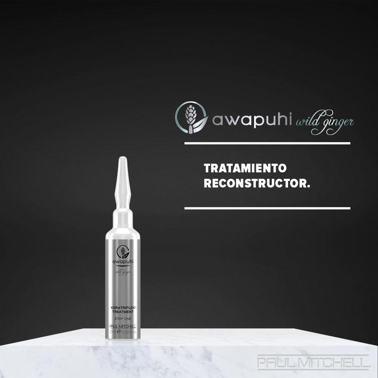 KeraTriplex Treatment, la ampolleta de reparación en dos pasos que transforma tu cabello maltratdo en un pilar de fortaleza. #AwapuhiWildGinger.