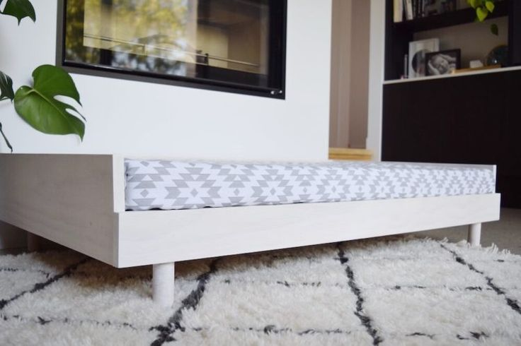 Because your pets deserve to sleep in style too! We created this gorgeous DIY Scandinavian style large dog bed using a new white wash paint colour to give it that distinctly Scandinavian feel. I love the streamlined design of this bed which also works perfectly as a toddler day bed. Find the easy to follow instructions with photos on the blog by clicking the image above or pin this pic to your Pinterest account to check it out later!