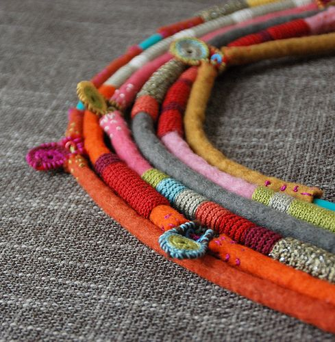 #390 KJoo crochet necklace