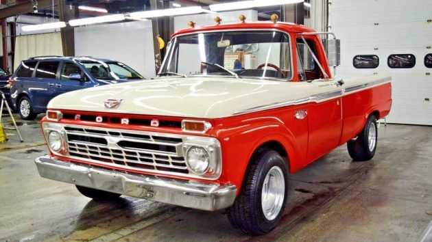 Big Block Power: 1965 Ford F100 Custom Cab #Trucks #Ford - https://barnfinds.com/big-block-power-1965-ford-f100-custom-cab/