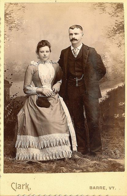 +~+~ Vintage Photograph ~+~+  Young couple ~ Barre, Vermont.