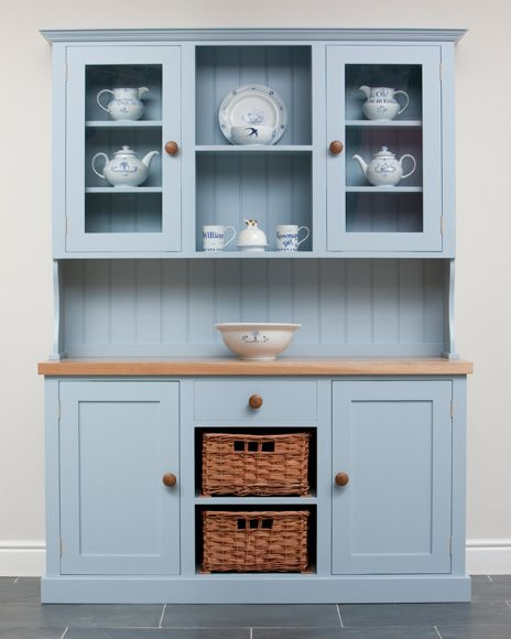 Large 1.5m hand painted Kitchen Dresser with baskets