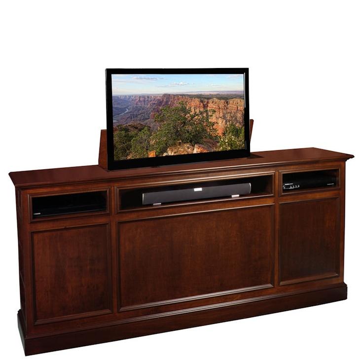 41 best images about tv lift on pinterest. Black Bedroom Furniture Sets. Home Design Ideas