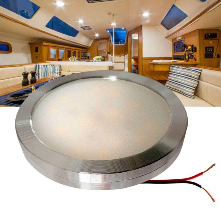 12 v DC LEVOU Sob A Luz Do Armário Branco Fresco Shell Prata RV Caravana Interior Lâmpada Telhado luz Da Cozinha