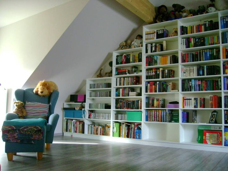 die besten 25+ dachgeschoss bibliothek ideen auf pinterest
