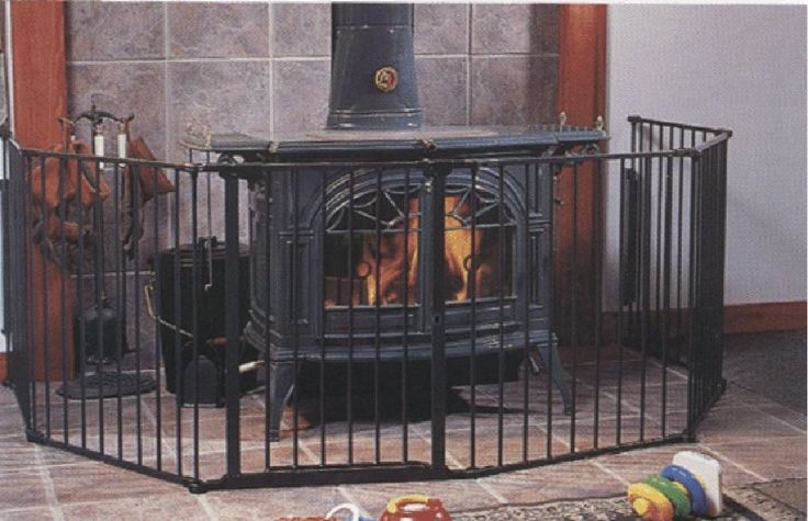 Fenced Away Fireplace To Keep Away Young Children In 2019