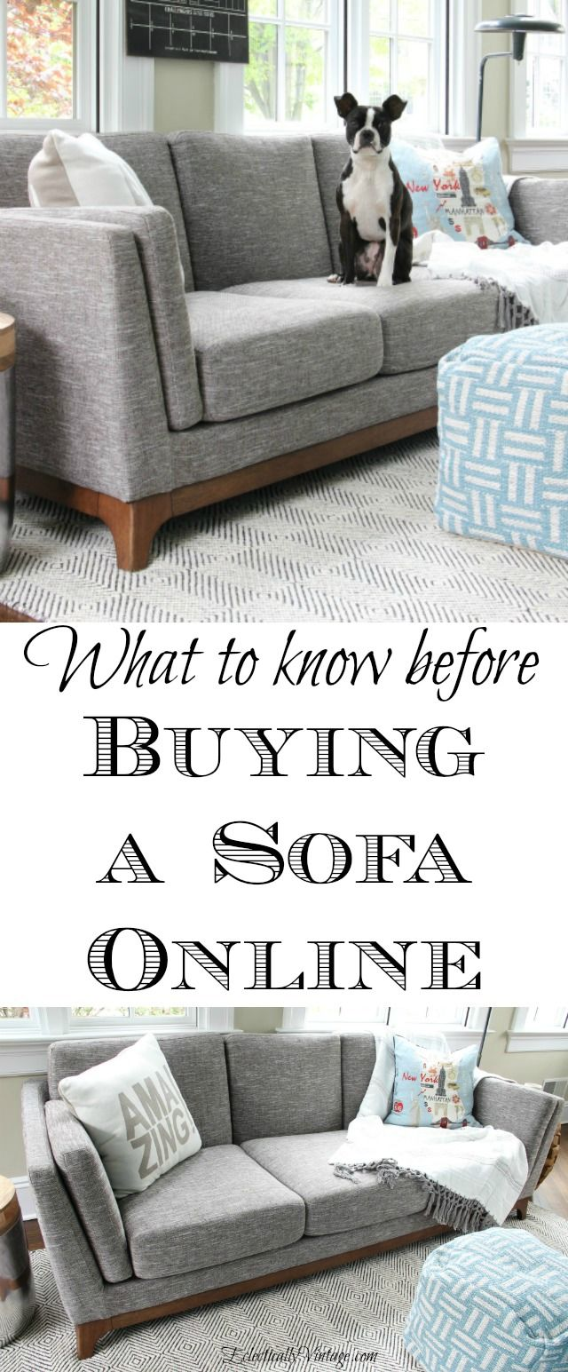 Tips for Buying Online Sofa - what to know before you buy! eclecticallyvintage.com
