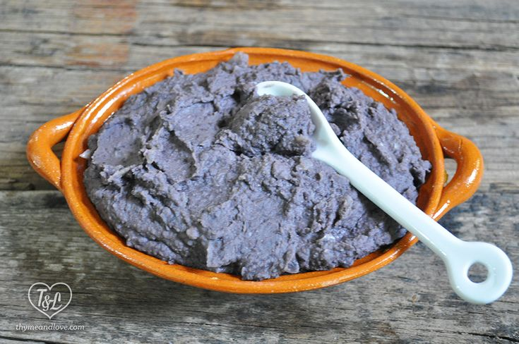 Refried Beans: a healthy Mexican side dish.
