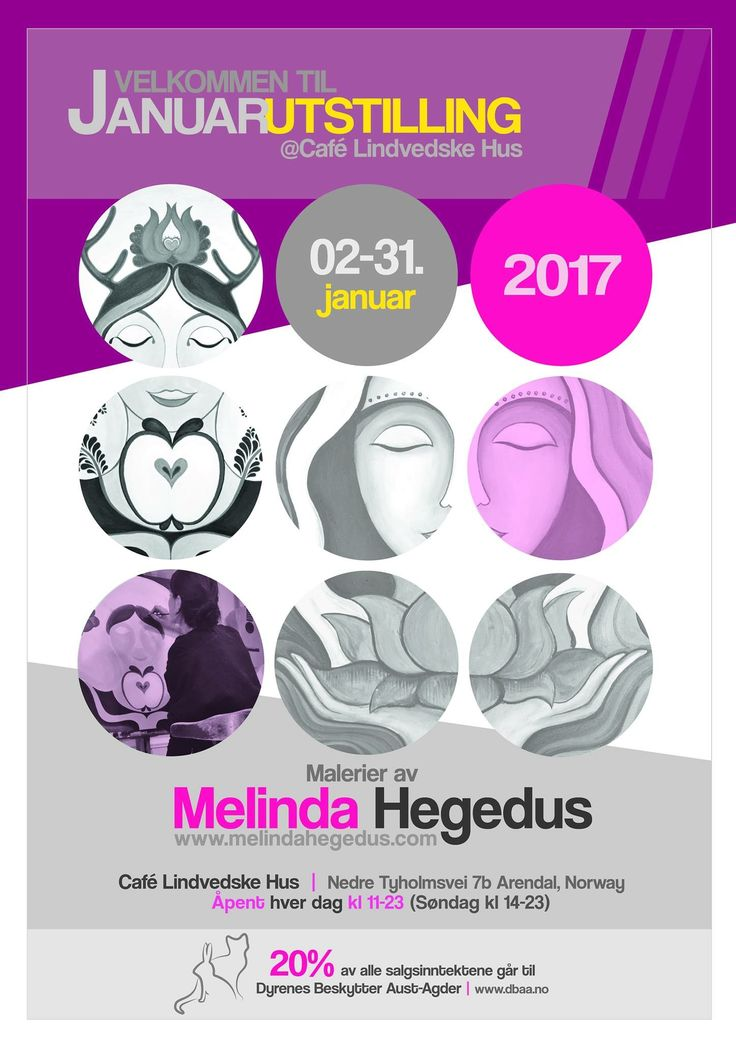 Welcome to my very first art exhibition in january 2017 at Cafe Lindvedske Hus (Arendal, Norway)