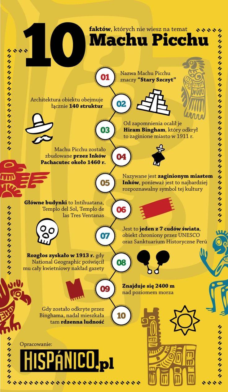 10 faktow, których nie wiesz na temat Machu Picchu - Hispanico.pl // #MachuPicchu #hiszpanski #Peru #Ameryka #infografika #infographic #espanol #spanish #ciekawostki