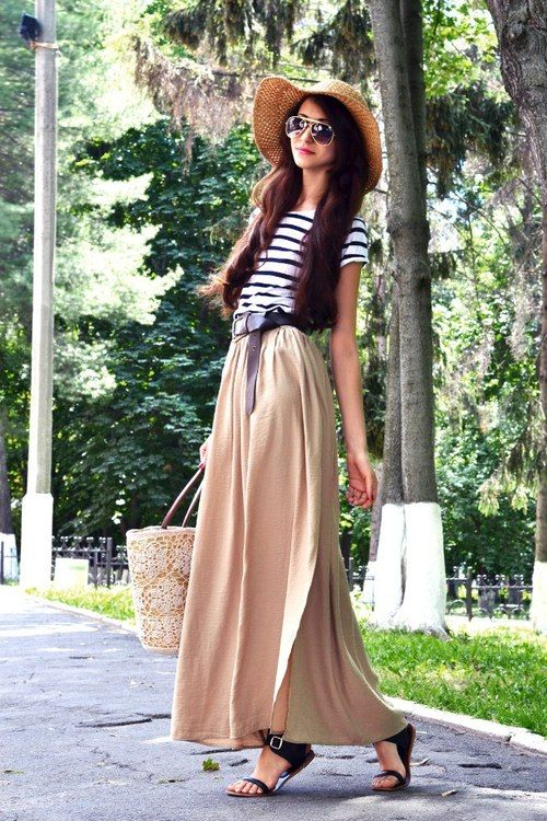 How to rock a maxi skirt this summer.