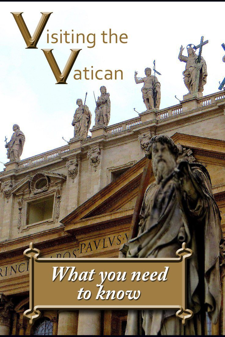 VATICAN CITY Italy - Tips and information about where the Vatican is in Rome, how to get there and what not to wear. St Peter's Basilica dome climb instructions included.