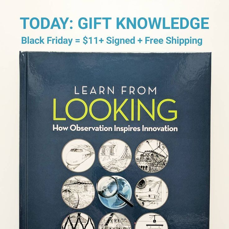 Go for a thoughtful gift and you will take a small step forward  advancing energy intelligence and sustainability.  Thanks to all of you that have made recent orders and also included reviews online! We have strength in numbers and the intent of this printing cost promotion is to help spread the word about solutions at hand.  Black Friday Special:  LEARN FROM LOOKING Book: 70% off $11 per Book vs. $35  Go big option: Box of Nine Books = Great Gifts for Friends Family and Colleagues: $315…
