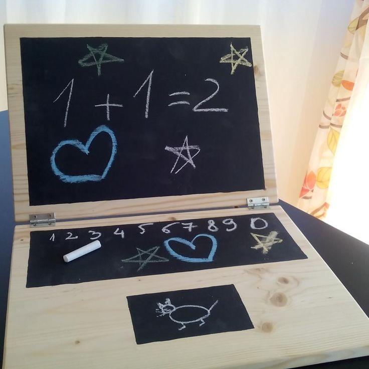 Laptop - tabla de scris cu creta