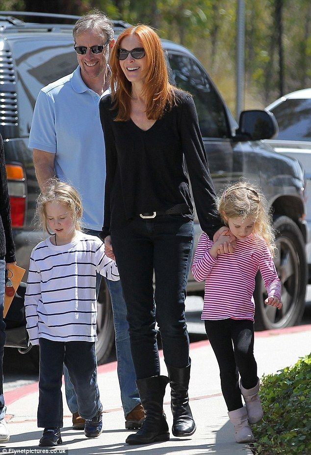 Marcia Cross and hubby have twins Eden and Savannah.