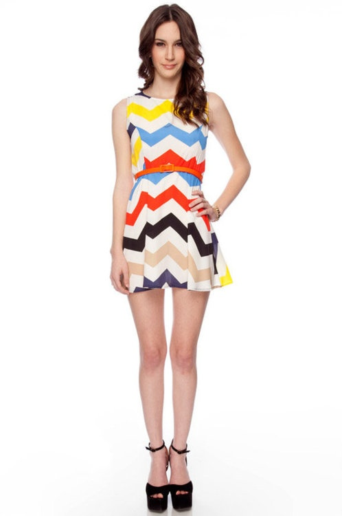 zig zag 'Milliore Miss Ziggy Belted Dress'