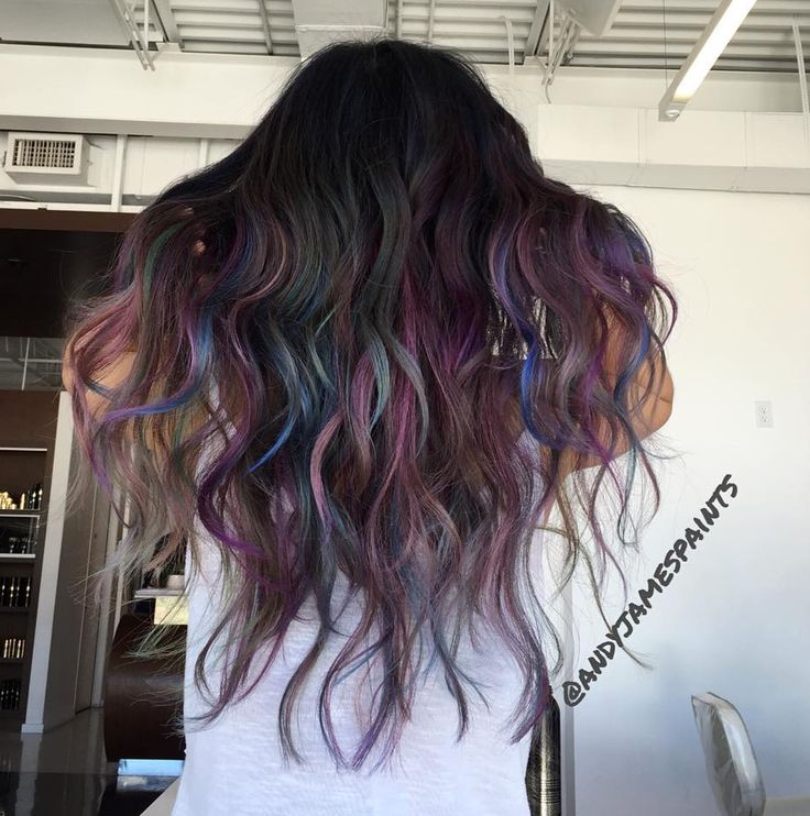 "It's safe to say that there is no longer a norm of ""basic"" hair color. With an influx of fashion colors, we're seeing rainbow, bright neons, and now The Oil Slick. When inspired by natu…"