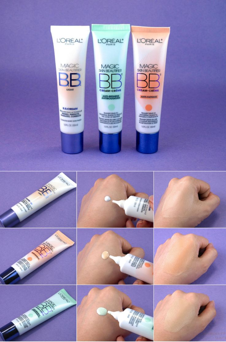 "L'Oreal Magic Skin Beautifier BB Cream in ""Light"", ""Anti-redness"" & ""Anti-fatigue"": Comparison Review and Swatches"
