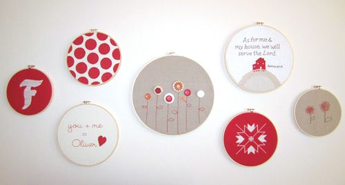 http://joyeverafter.squarespace.com/blog/2011/2/2/more-embroidery-hoop-art.html #embroidery hoops