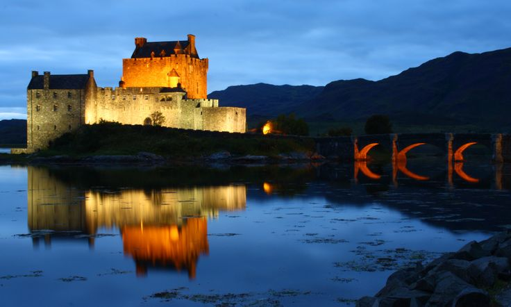 Eilean Donan Castle, Scotland. I was attacked by a thousand (at least!) midges taking this shot.