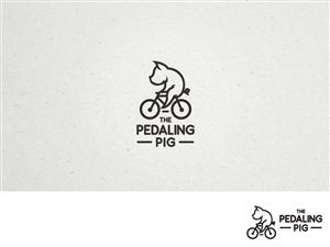 Logo Design for The Pedaling Pig, a new Bike Rental Shop in historic coastal village in Georgia, needs a logo featur by Creative Juice