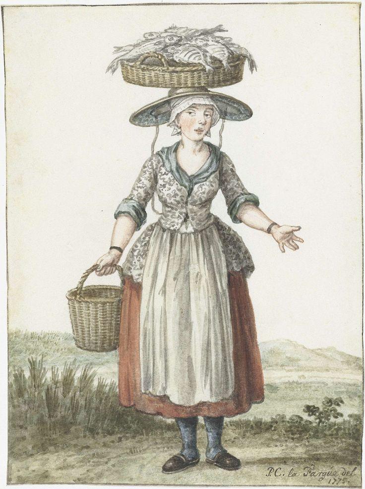 Scheveningse visloopster, Paulus Constantijn la Fargue, 1775