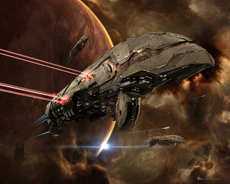 The mighty warship of the Amarr Empire