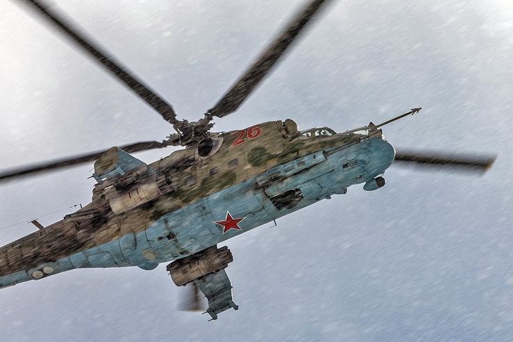 Mi-24 Hind in the snow