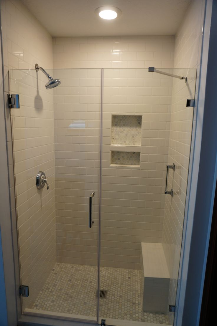 Tiled Shower Carrara Tile Shower Niche White Subway