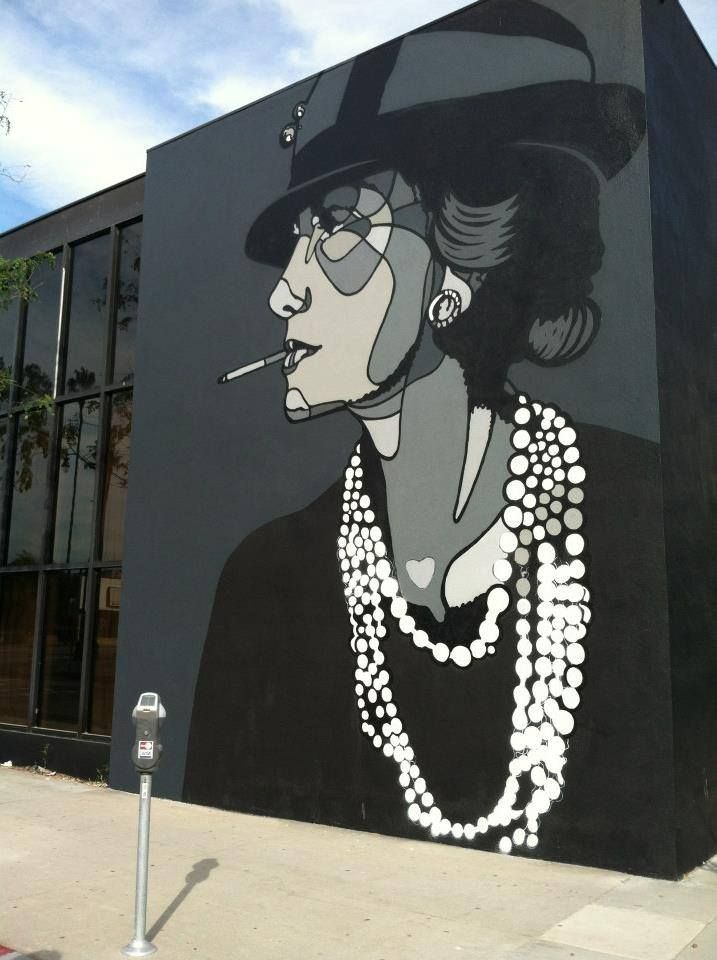 """pinterest.com/fra411 #Street Art - """"Coco Chanel"""" by David Flores - Los Angeles…"""