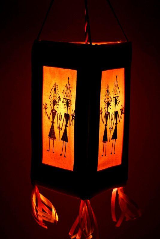 Warli Print Triangular #Lamp Shade #homedecor #decorative ...