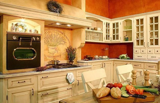 Orange kitchen colors are a great tool for creating optimistic, bright and modern kitchen design and decorating