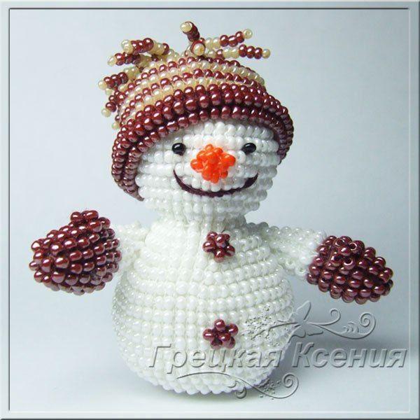 Снеговик из бисера. Мини МК / IPv2 - Глобальная информация