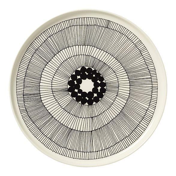Hey! Marimeko Plate. Inspiration. Thrift store and a porcelain pen?