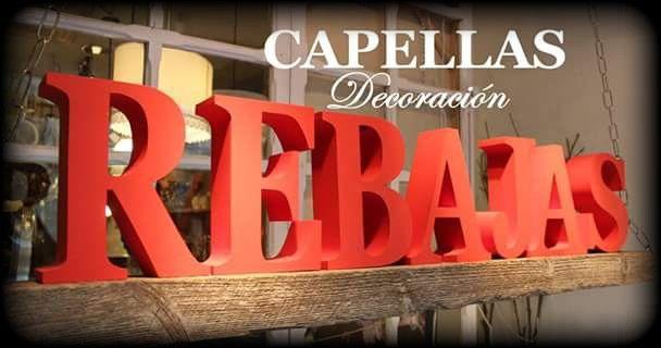 Escaparate CAPELLA Decoración, Rebajas de enero año 2016 www.capelladecoracion.com