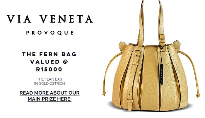 Via La Moda Showroom Golden Bag giveaway promotion April / May 2017 www.getcarriedaway.co.za