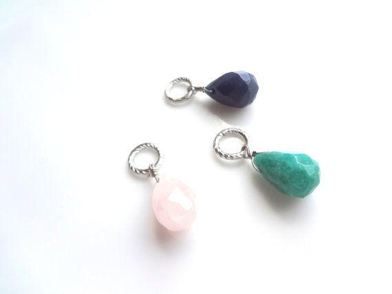 Purple Teardrop Necklace Simple Jewelry Work by FashionelleStudio, $19.99